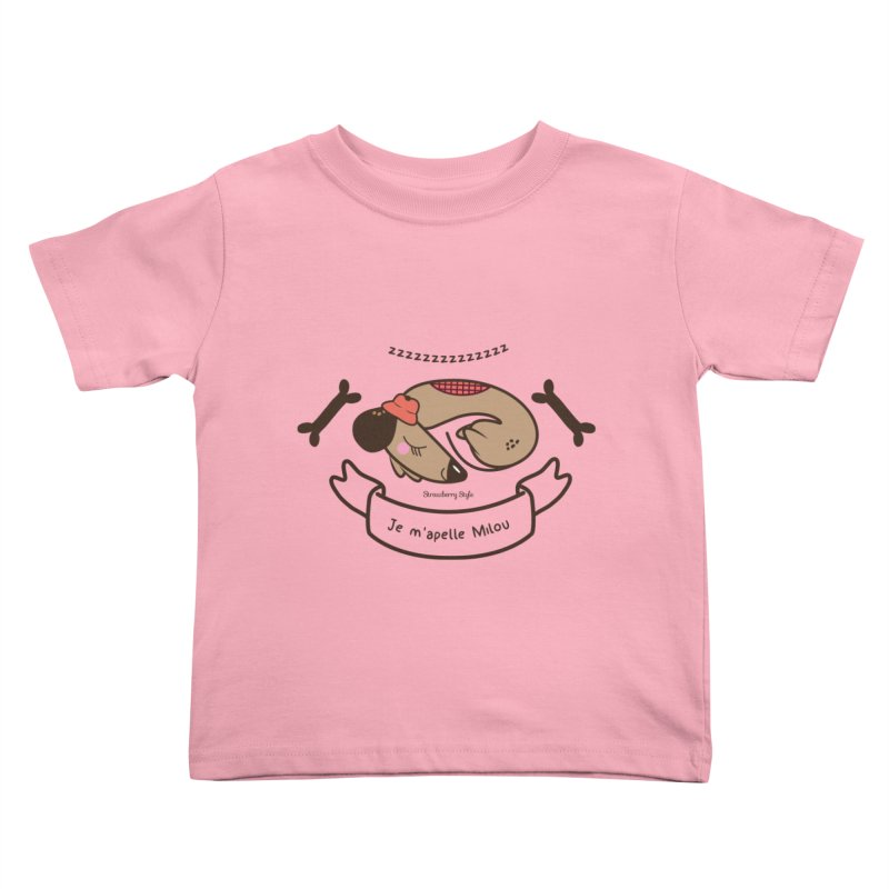 Je m'appelle Milou Kids Toddler T-Shirt by strawberrystyle's Artist Shop