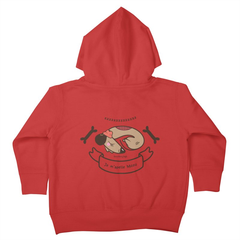 Je m'appelle Milou Kids Toddler Zip-Up Hoody by strawberrystyle's Artist Shop