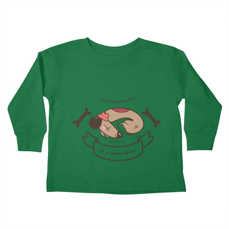 Je m'appelle Milou Kids Toddler Longsleeve T-Shirt by strawberrystyle's Artist Shop