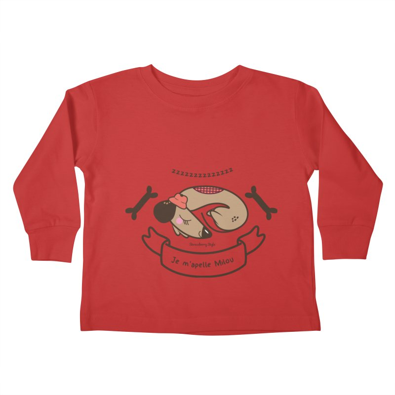 Je m'appelle Milou Kids Toddler Longsleeve T-Shirt by strawberrystyle's Artist Shop