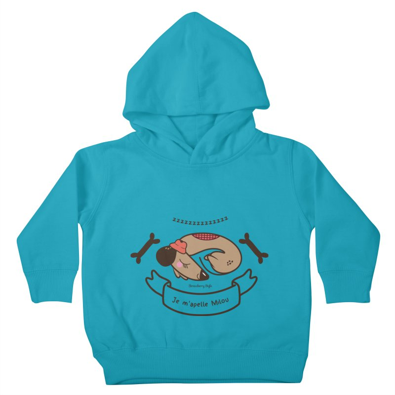 Je m'appelle Milou Kids Toddler Pullover Hoody by strawberrystyle's Artist Shop