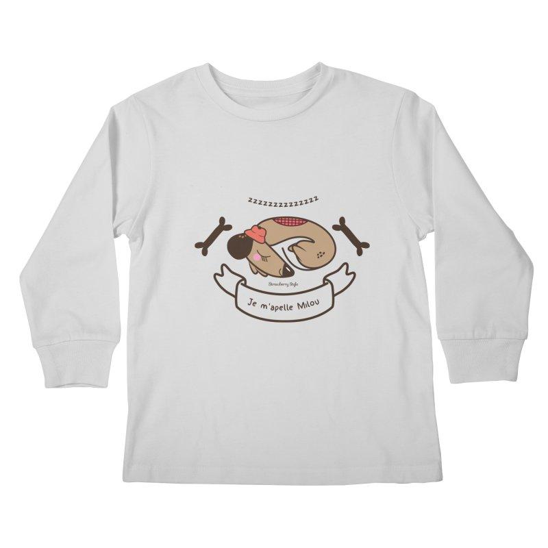 Je m'appelle Milou Kids Longsleeve T-Shirt by strawberrystyle's Artist Shop