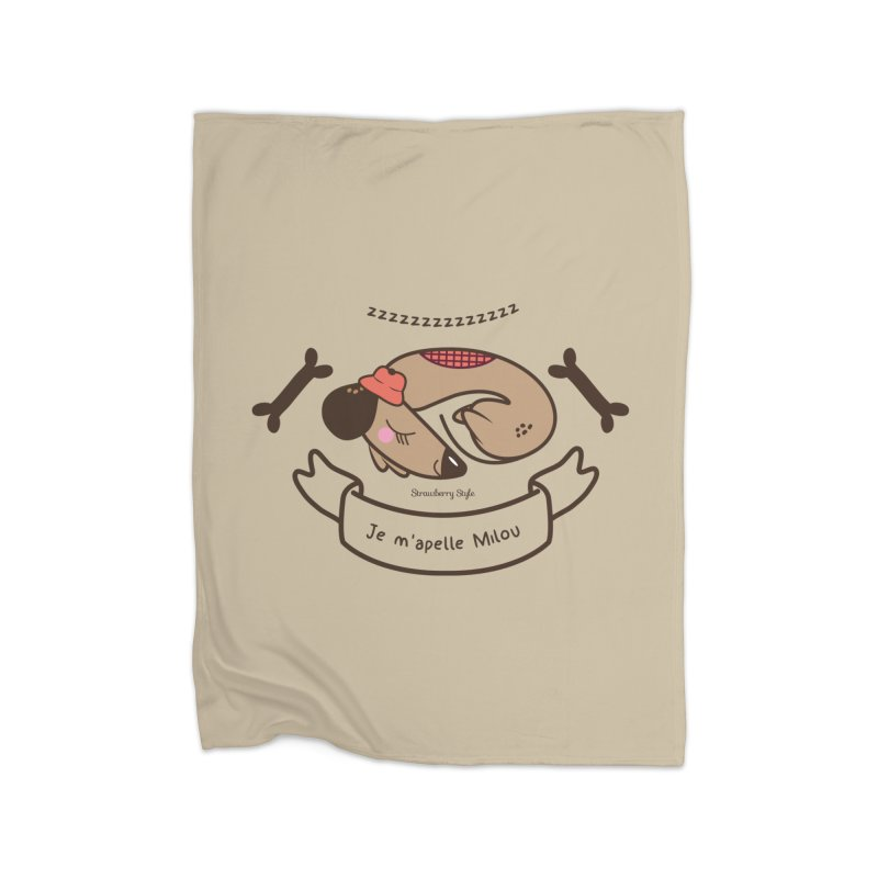 Je m'appelle Milou Home Blanket by strawberrystyle's Artist Shop