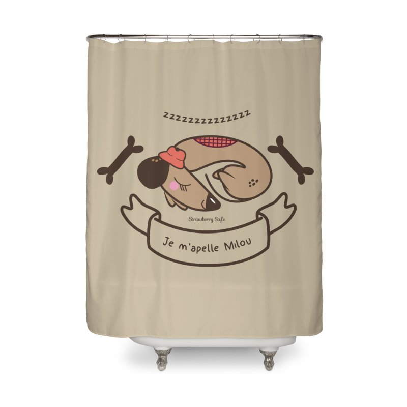 Je m'appelle Milou Home Shower Curtain by strawberrystyle's Artist Shop