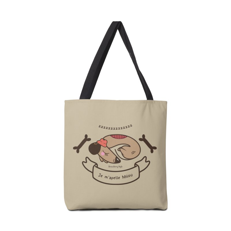 Je m'appelle Milou Accessories Bag by strawberrystyle's Artist Shop