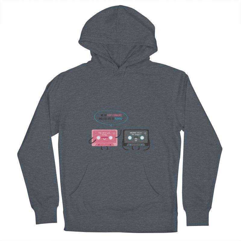 Fast Forward vs Rewind Women's Pullover Hoody by strawberrystyle's Artist Shop