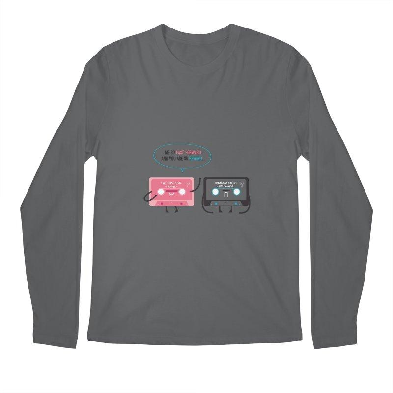 Fast Forward vs Rewind Men's Longsleeve T-Shirt by strawberrystyle's Artist Shop
