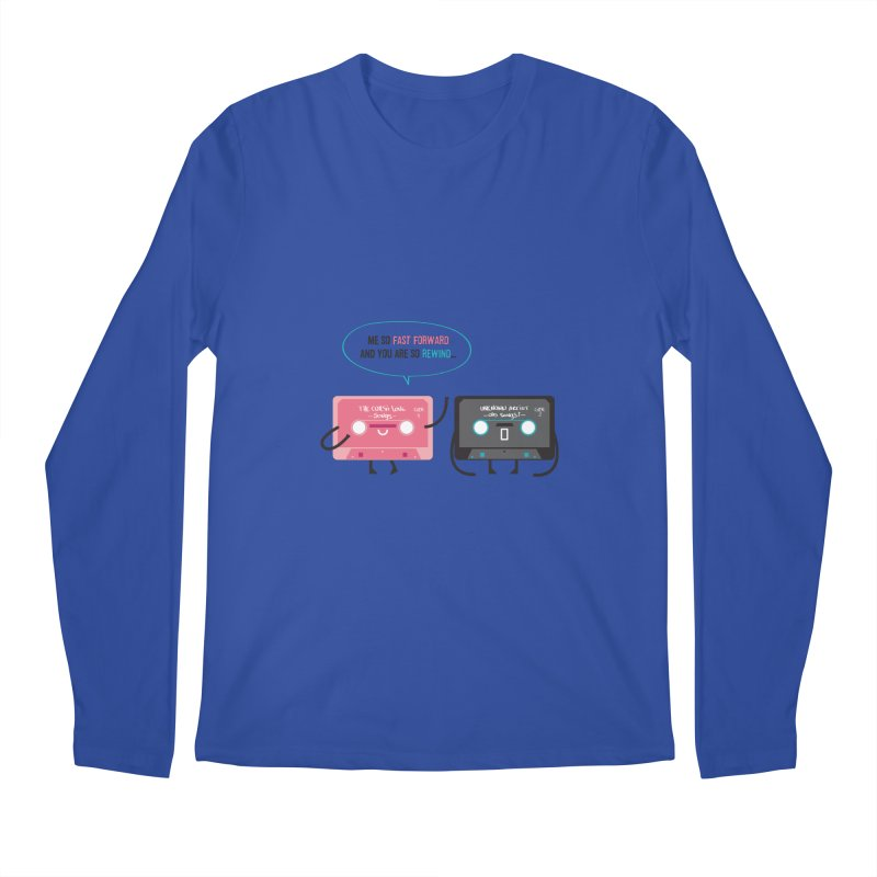 Fast Forward vs Rewind Men's Longsleeve T-Shirt by strawberrystyle's Artist Shop