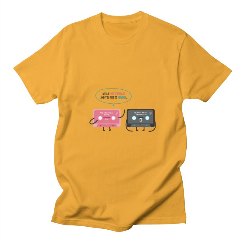 Fast Forward vs Rewind Men's T-shirt by strawberrystyle's Artist Shop