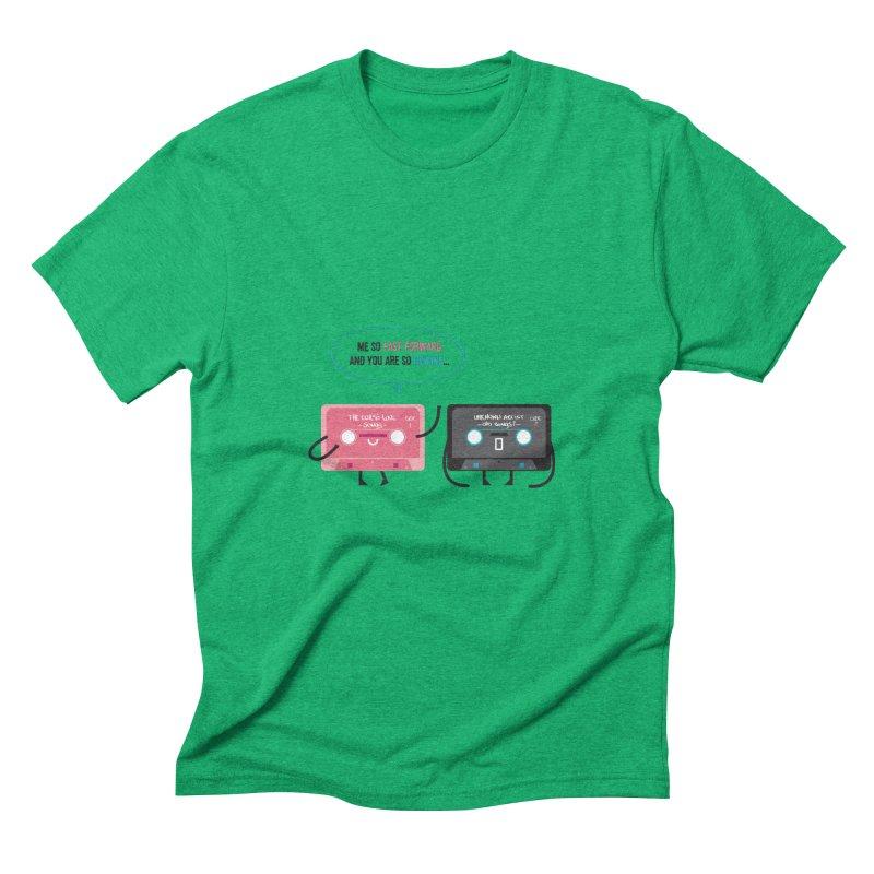 Fast Forward vs Rewind Men's Triblend T-Shirt by strawberrystyle's Artist Shop