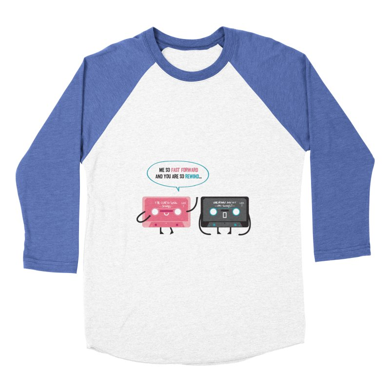 Fast Forward vs Rewind Women's Baseball Triblend T-Shirt by strawberrystyle's Artist Shop