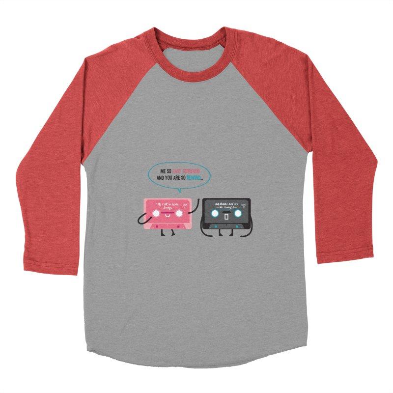 Fast Forward vs Rewind Men's Baseball Triblend T-Shirt by strawberrystyle's Artist Shop