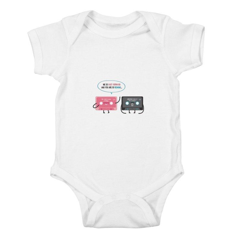 Fast Forward vs Rewind Kids Baby Bodysuit by strawberrystyle's Artist Shop