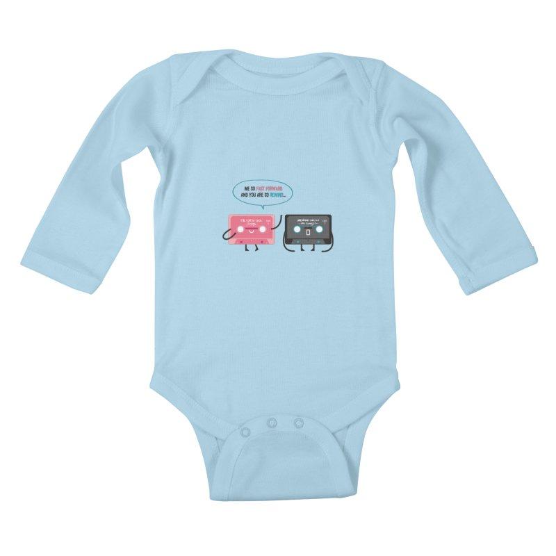 Fast Forward vs Rewind Kids Baby Longsleeve Bodysuit by strawberrystyle's Artist Shop