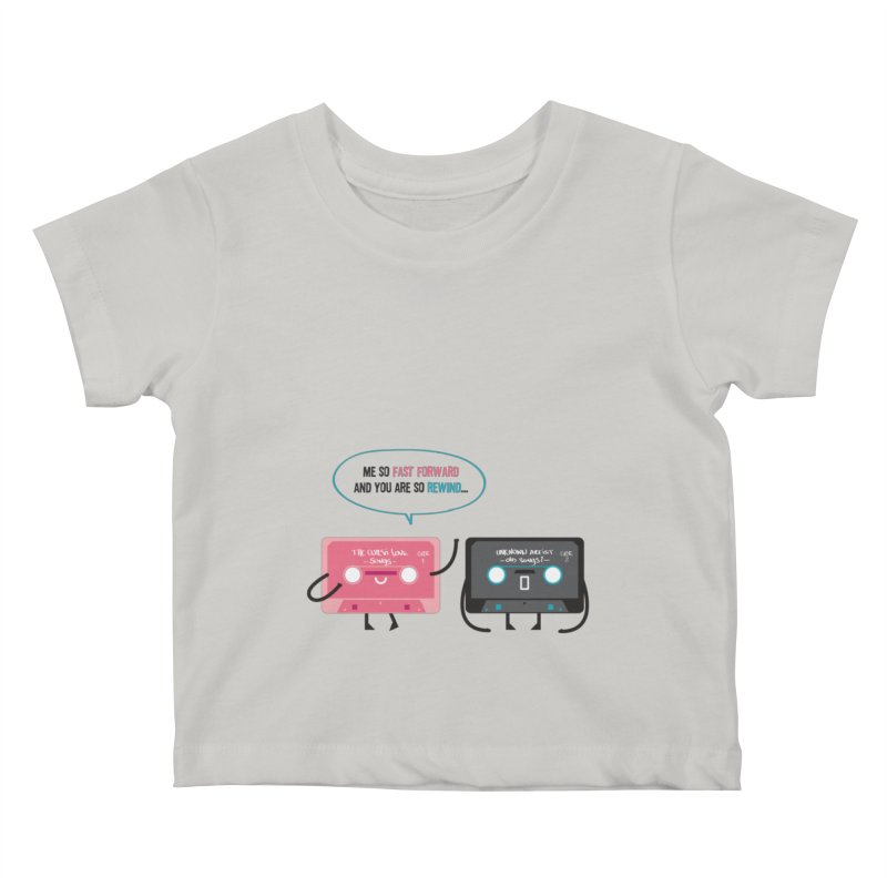 Fast Forward vs Rewind Kids Baby T-Shirt by strawberrystyle's Artist Shop