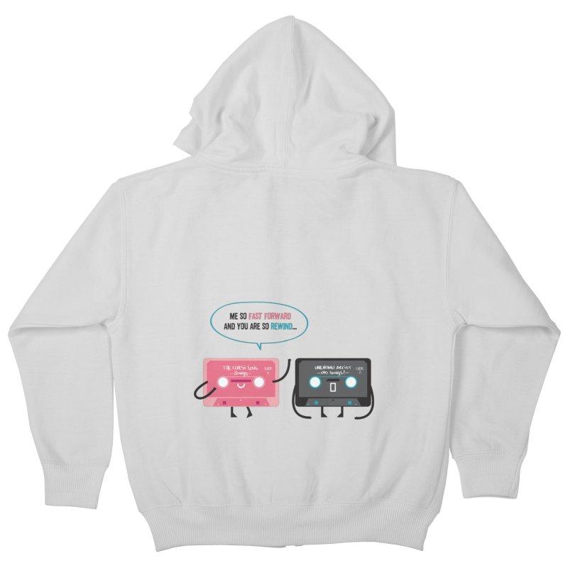 Fast Forward vs Rewind Kids Zip-Up Hoody by strawberrystyle's Artist Shop