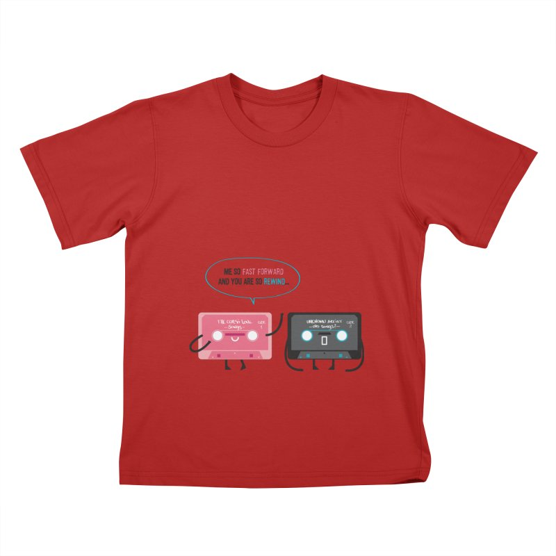 Fast Forward vs Rewind Kids T-shirt by strawberrystyle's Artist Shop