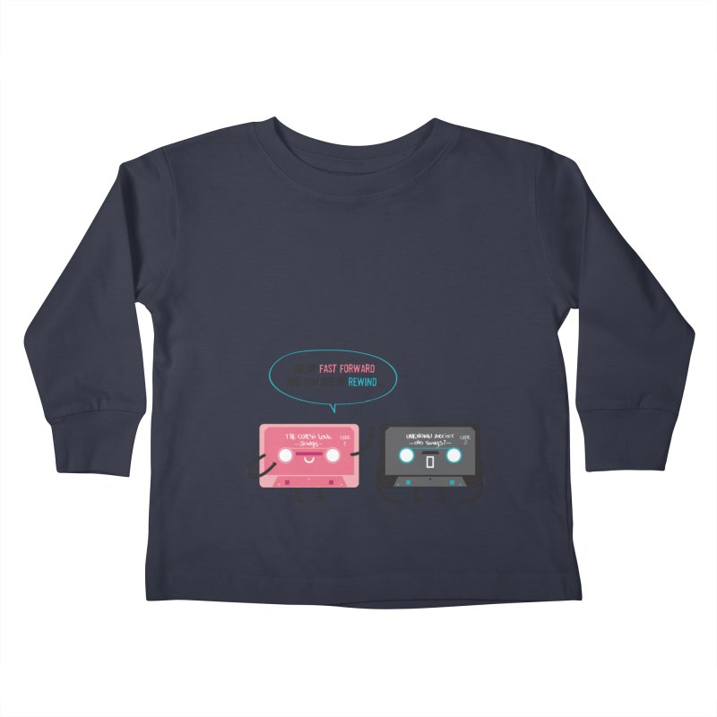 Fast Forward vs Rewind Kids Toddler Longsleeve T-Shirt by strawberrystyle's Artist Shop