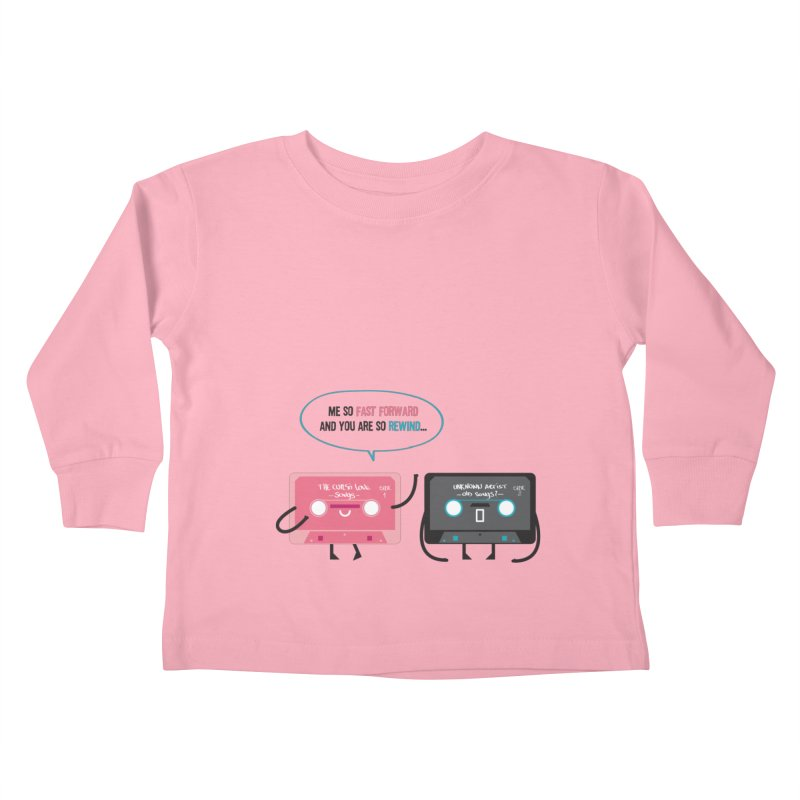Fast Forward vs Rewind Kids Toddler Longsleeve T-Shirt by strawberrystyle's Artist Shop