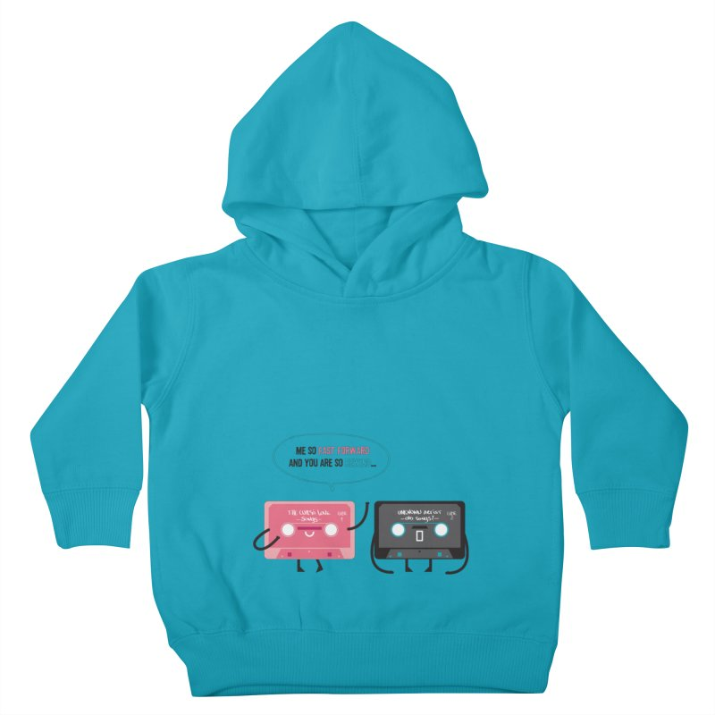 Fast Forward vs Rewind Kids Toddler Pullover Hoody by strawberrystyle's Artist Shop