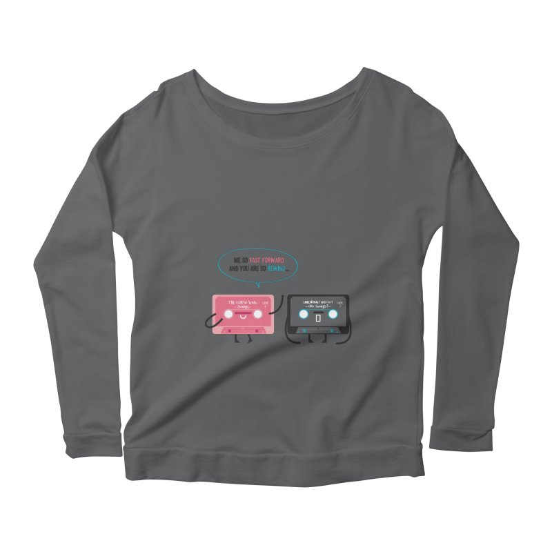 Fast Forward vs Rewind Women's Longsleeve Scoopneck  by strawberrystyle's Artist Shop