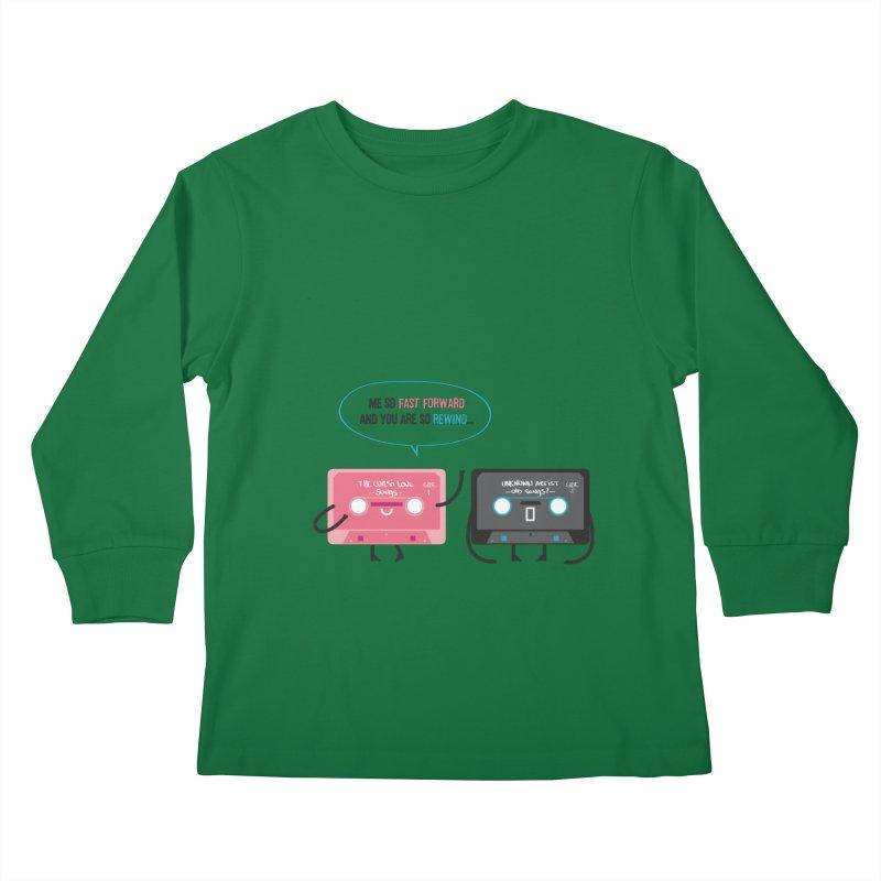 Fast Forward vs Rewind Kids Longsleeve T-Shirt by strawberrystyle's Artist Shop