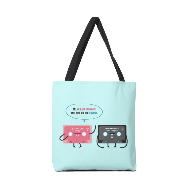 Fast Forward vs Rewind Accessories Bag by strawberrystyle's Artist Shop