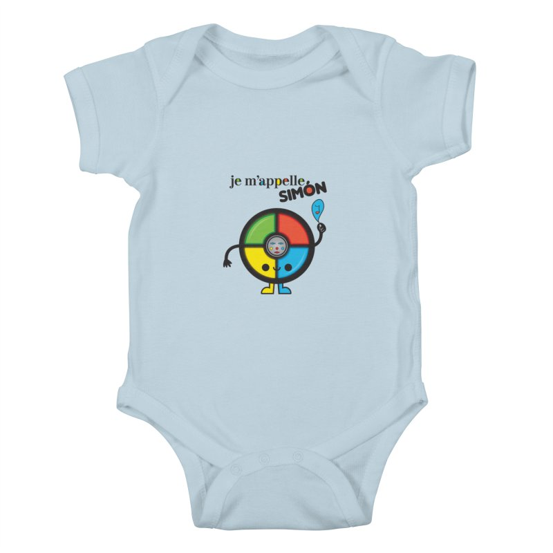 Je m'appelle simón Kids Baby Bodysuit by strawberrystyle's Artist Shop