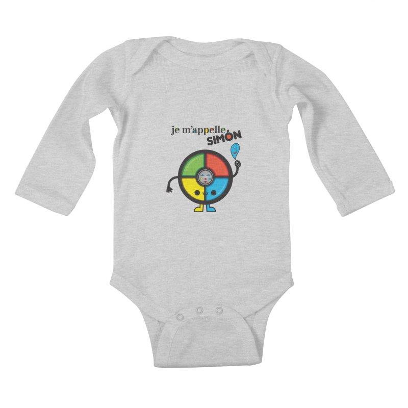 Je m'appelle simón Kids Baby Longsleeve Bodysuit by strawberrystyle's Artist Shop