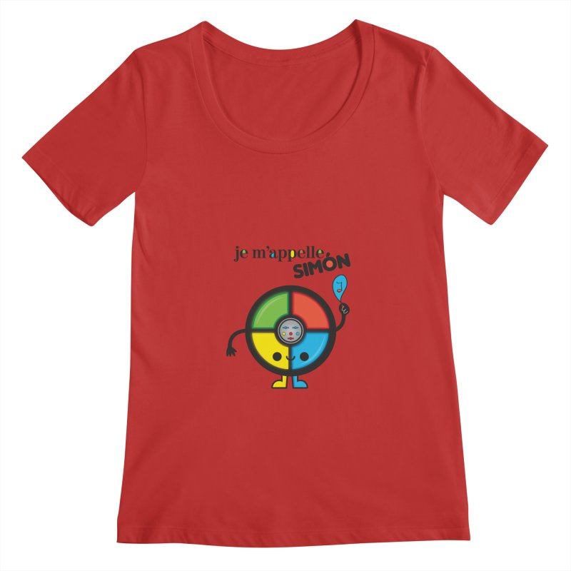 Je m'appelle simón Women's Scoopneck by strawberrystyle's Artist Shop