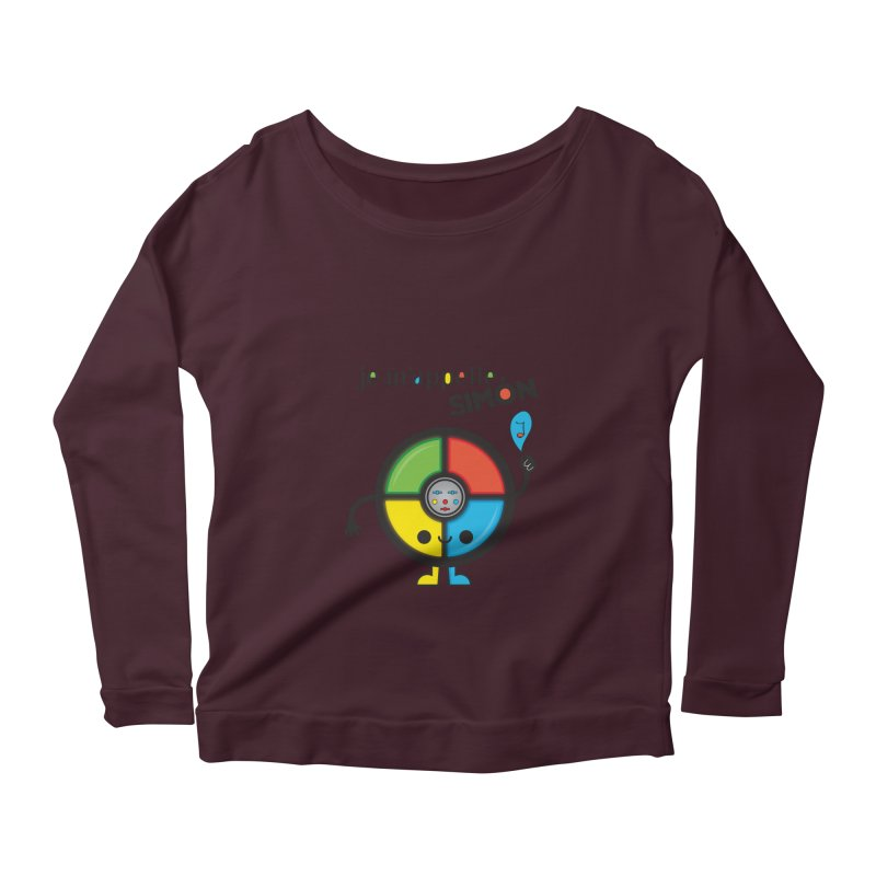 Je m'appelle simón Women's Longsleeve Scoopneck  by strawberrystyle's Artist Shop