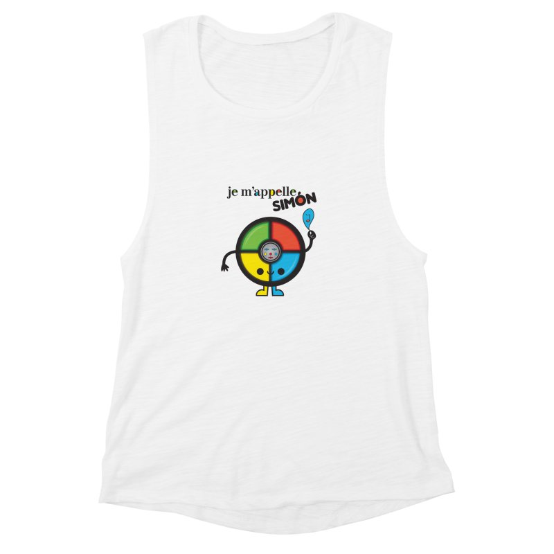 Je m'appelle simón Women's Muscle Tank by strawberrystyle's Artist Shop