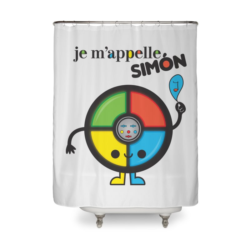 Je m'appelle simón Home Shower Curtain by strawberrystyle's Artist Shop