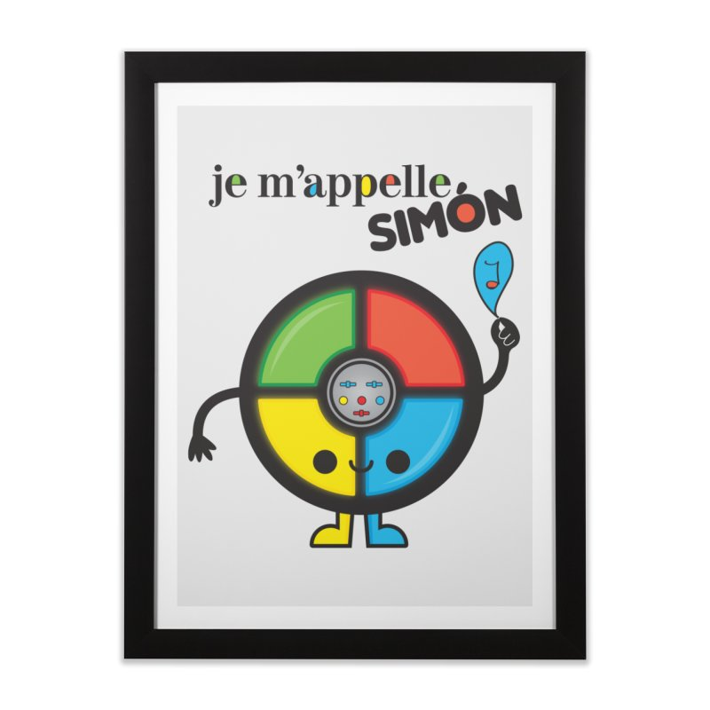 Je m'appelle simón Home Framed Fine Art Print by strawberrystyle's Artist Shop