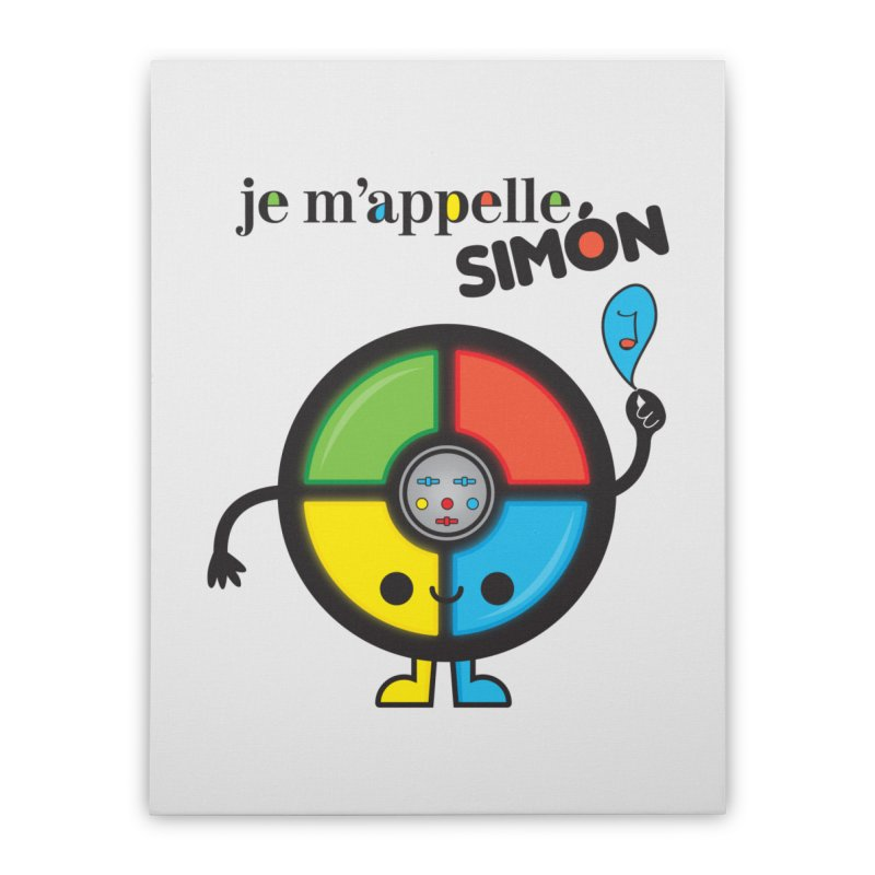 Je m'appelle simón Home Stretched Canvas by strawberrystyle's Artist Shop