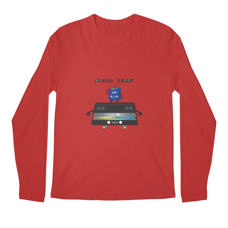 Press Start Men's Longsleeve T-Shirt by strawberrystyle's Artist Shop
