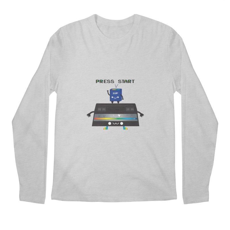 Press Start Men's Longsleeve T-Shirt by strawberrystyle's Artist Shop