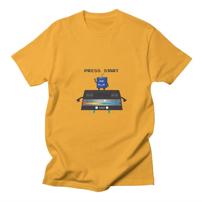 Press Start Men's T-Shirt by strawberrystyle's Artist Shop