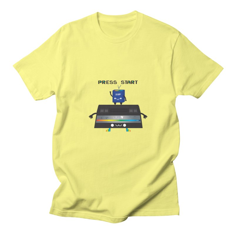 Press Start Men's T-shirt by strawberrystyle's Artist Shop