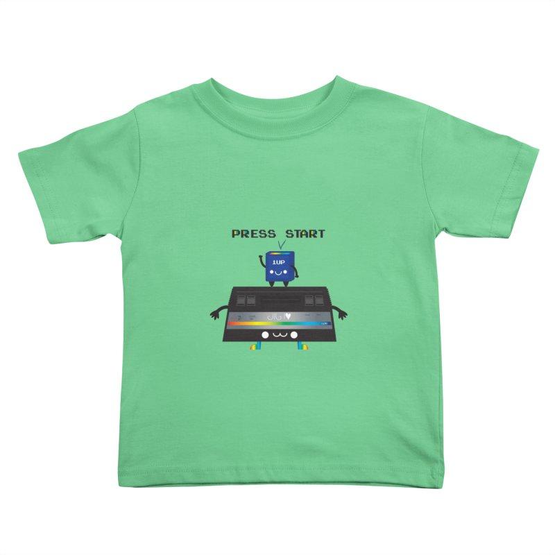 Press Start Kids Toddler T-Shirt by strawberrystyle's Artist Shop