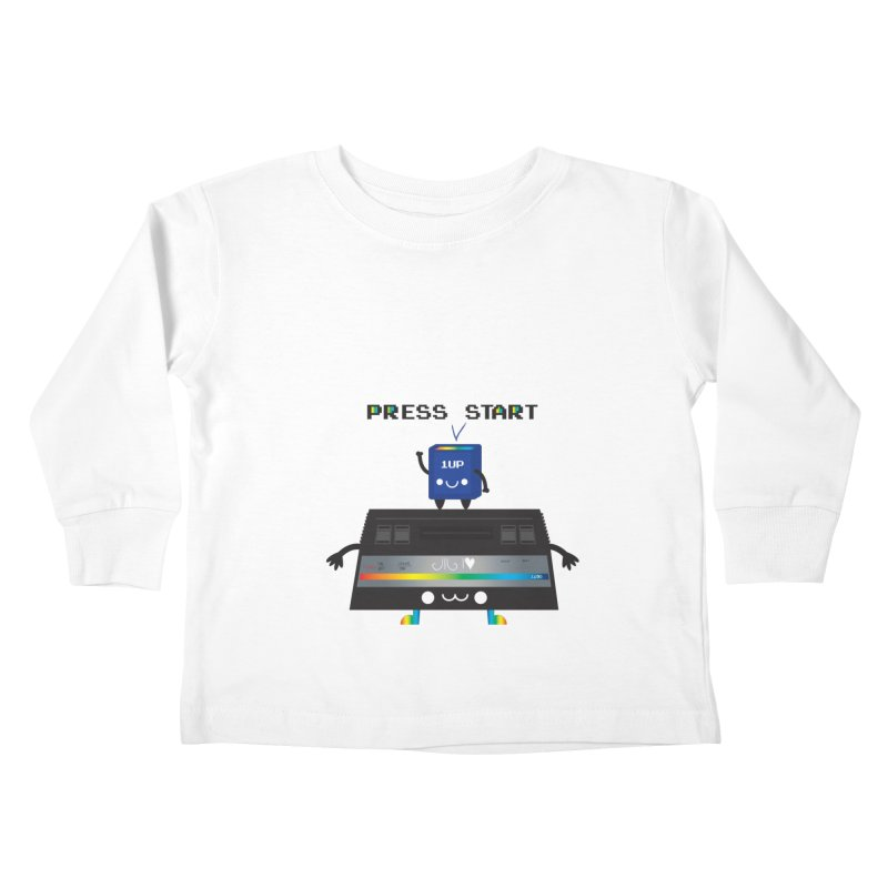 Press Start Kids Toddler Longsleeve T-Shirt by strawberrystyle's Artist Shop