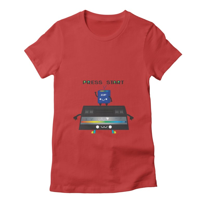Press Start Women's Fitted T-Shirt by strawberrystyle's Artist Shop