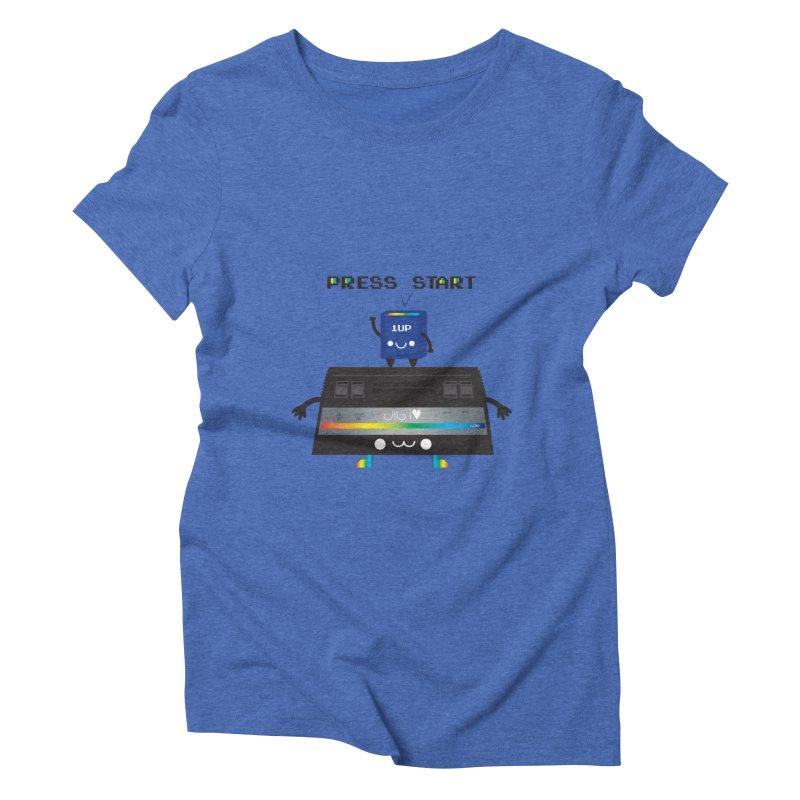 Press Start Women's Triblend T-shirt by strawberrystyle's Artist Shop