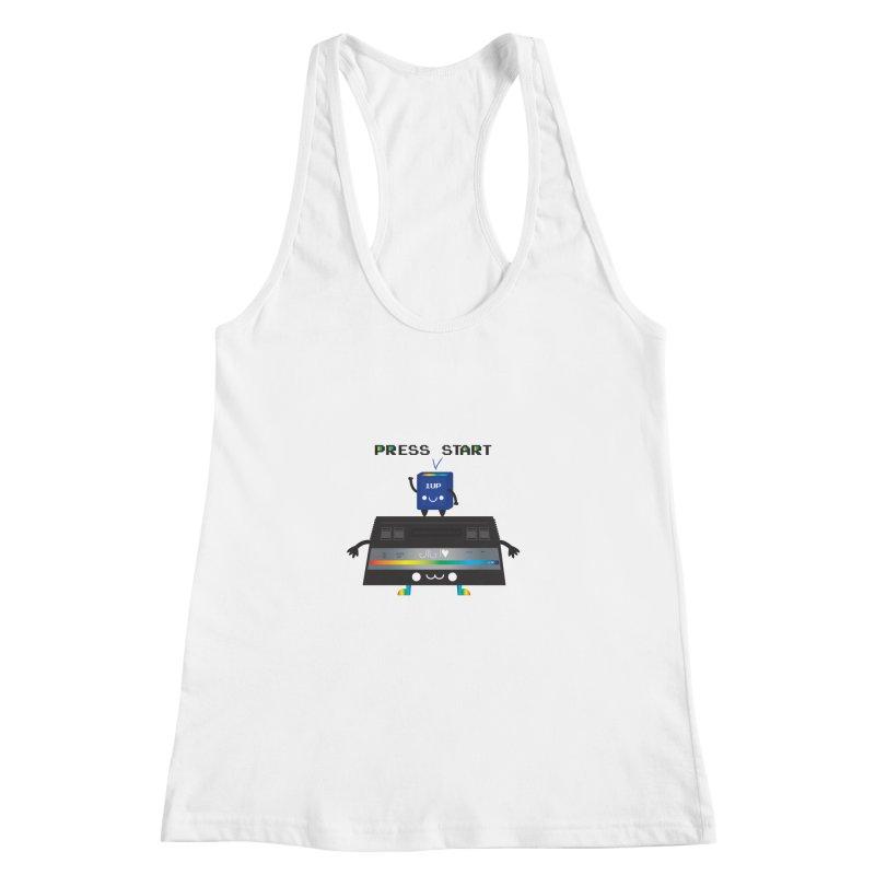 Press Start Women's Racerback Tank by strawberrystyle's Artist Shop