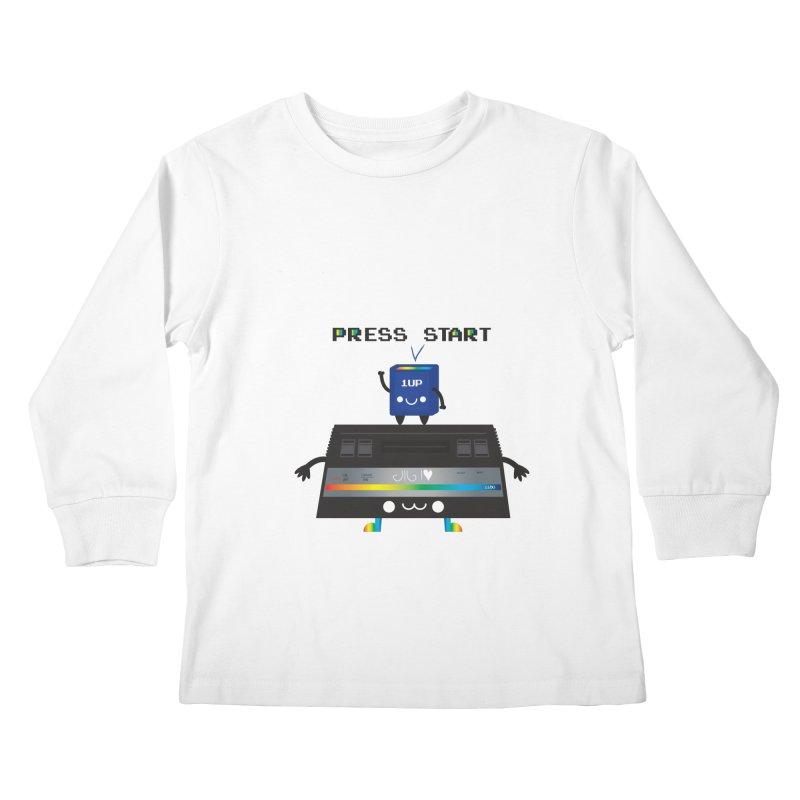 Press Start Kids Longsleeve T-Shirt by strawberrystyle's Artist Shop