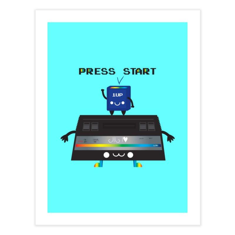 Press Start Home Fine Art Print by strawberrystyle's Artist Shop