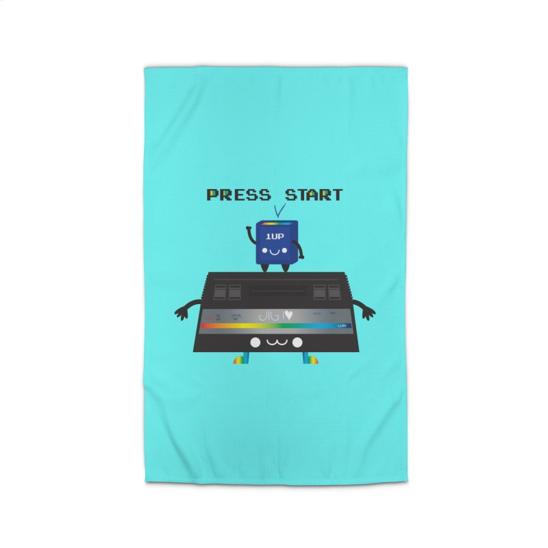 Press Start Home Rug by strawberrystyle's Artist Shop