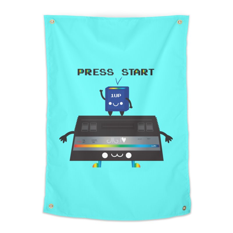Press Start Home Tapestry by strawberrystyle's Artist Shop
