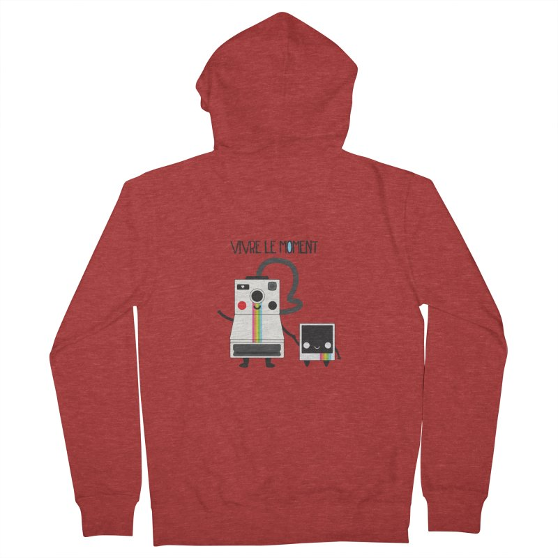 Vivre Le Moment Men's Zip-Up Hoody by strawberrystyle's Artist Shop