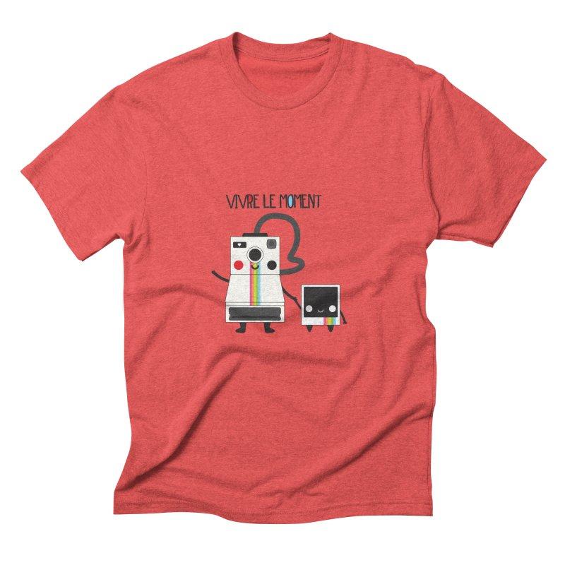 Vivre Le Moment Men's Triblend T-shirt by strawberrystyle's Artist Shop